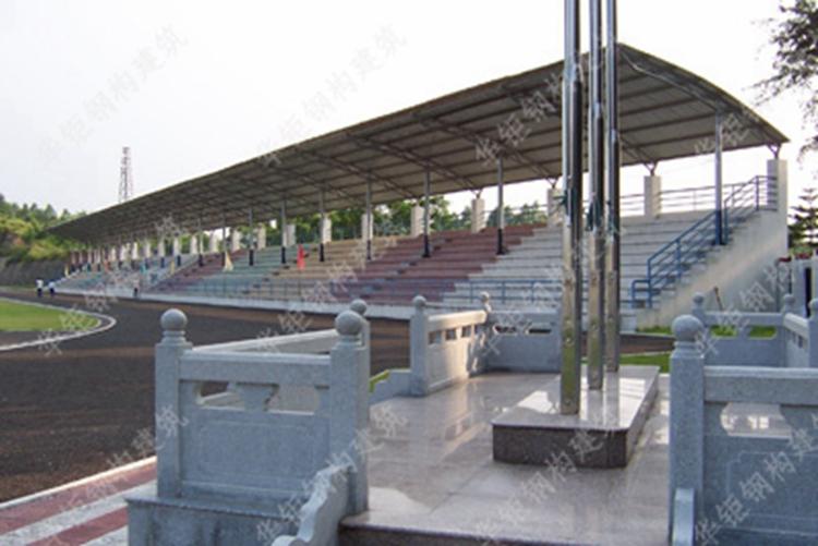 钢桁架体育看台雨蓬